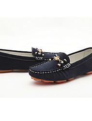 Темно-синий Moolecole Женские коровья шерсть мягкая резиновая подошва досуг мокасин Gommino обувь