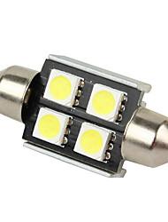 Merdia 4 SMD 5050 LED Canbus Error Free Interior Festoon Dome Lights Bulds DC 12V White 2pcs-LEDD002B4A