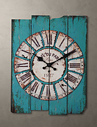 "H15"" Country Style Light Blue Wall Clock"