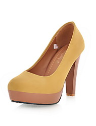 Leatherette Platform Chunky Heel  Pumps Party Shoes (More Colors)