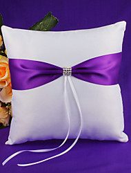 Wedding Ring Pillow with Blue Ribbon