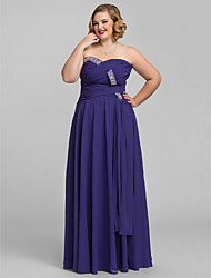 Formal Evening/Prom/Military Ball Dress - Regency Plus Sizes A-line Sweetheart/Strapless Floor-length Chiffon