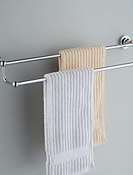 Contemporary Chrome Finish Brass Towel Bars