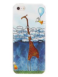 Warm Cartoon Giraffe Pattern PC Hard Case For iPhone 7 7 Plus 6s 6 Plus SE 5s 5c 5 4s 4