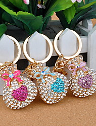 Luxurious Clear Opal Money Purse Metal Keychain (More Colors)
