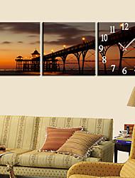 """12 """"-24"""" Country Style Brige Orologio da parete in tela 3pcs"""