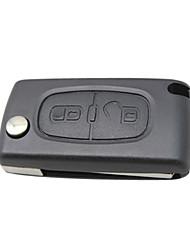 2-Button Flip Remote Key Shell for Citroen Peugeot  (no logo)