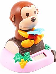 Powered livre de lecture de singe Toy penché solaire Assis sur un bois