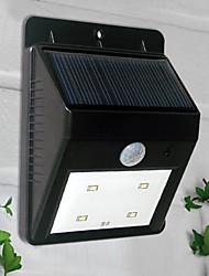 4 LED de luz blanca con energía solar PIR sensor de luz al aire libre (CIS-57164)