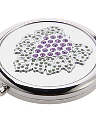 Violet raisin Motif Argent Mirror