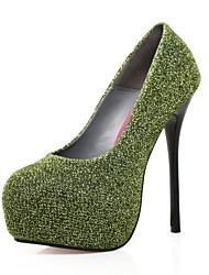 Große Stretch Wildleder Stiletto Pumps Party-Schuhe (weitere Farben)