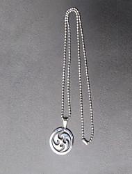 Naruto Sasuke Uchiha Sharingan Stainless Steel Necklace