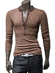 Men'S Casual Fasion Two Piece Like Slim T-Shirt