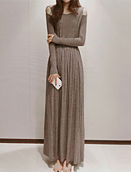 Women's Dresses , Cotton Casual/Work Color Party
