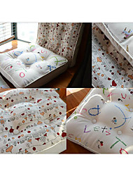 Cartoon Style Cute Letters Design Chair Pad