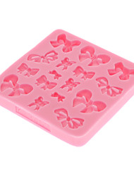 3D Bowknot Fondant Cake Silicone Mold ,Chocolate Candy Mold,Bakeware(Random Color)