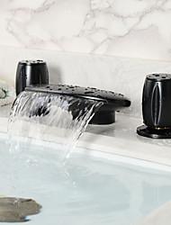 Vintage Style Öl-rieb Bronze Zwei Griffe Badewanne Wasserhahn