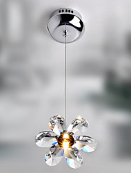 20W Pendant Light in Crystal Floral Shape(G4 Bulb Base)