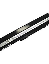 7800mAh da bateria do portátil da recolocação para Asus K52 x8c x67 x5i x42 p62 p82 pro5i pr067 pr08c p42 9cell - preto