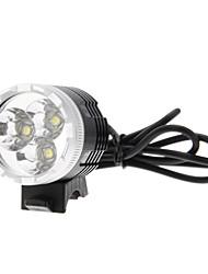 3-Mode 3xCREE XM-L U2 LED Phare / lumière de bicyclette (1000LM, 4x18650, Noir + argent)