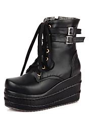 cuña del talón de las cuñas de las mujeres y las botas botines / tobillo de la plataforma zapatos casuales (más colores)