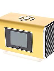 Tragbare Metall Audio-Lautsprecher mit TF-Karten-Unterstützung