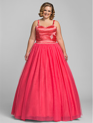 Prom/Formal Evening/Quinceanera/Sweet 16 Dress - Watermelon Plus Sizes Ball Gown/A-line/Princess Sweetheart Floor-lengthTulle/Stretch