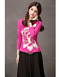 TS Ethnic Chinese Style Patch Embroidery Simplicity T-Shirt Tops