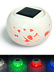 Cupid Design Hollowed-Out LED Solar Powered Garden Light -Solar Table Light- Solar Small Night Light In Jar Design