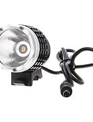 3-Mode 1xCREE MC-E P7 LED lumière jaune Phare / lumière de vélo (900LM, 4x18650, Noir + argent)