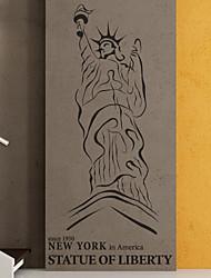 Нью-Йорк Статус Наклейки Свободы Пейзаж Стена