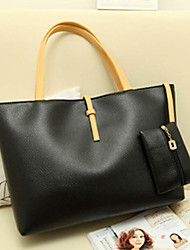 Lady Fashion Vintage PU Leather Shoulder Bag(Black)