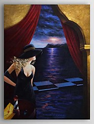 Hand Painted Oil Painting People Woman with Stretched Frame 1310-PE1192