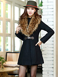 Women's Coats & Jackets , Wool/Wool Blend Casual/Work YWD