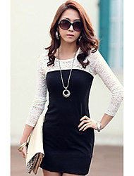 Women's Dresses , Cotton Blend Casual Long Sleeve LOONGZY