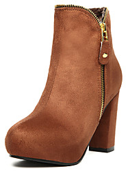 Chic Sexy Inner Platform Boots With Zipper
