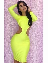 Mini vestido Backless fluorescencia atractiva de las mujeres