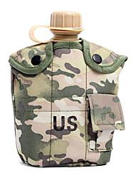 Extérieur Camping 1L Bouteille chaleur préservation avec le sac et Lunch Box (couleur aléatoire)