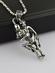 Муж. Ожерелья с подвесками Винтаж Ожерелья Нержавеющая сталь бижутерия Бижутерия Назначение Для вечеринок Повседневные