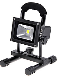 KX-913 Rechargeable Portable 10W 1000lm 6000K LED White Light Flood Lamp - Black (110~240V / DC 12V / 24V)