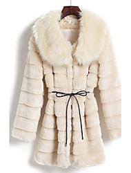 à manches longues de préparation de lit en fausse fourrure parti / manteau occasionnel (plus de couleurs)