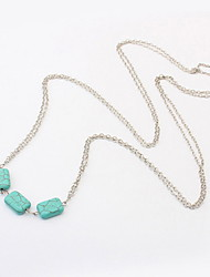 Fashion Alloy With Turquoise Women's Necklace