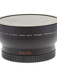 1452W-R Super Lentes 52mm 0.45X Digital High Definition Wide Angle com Macro (Preto)