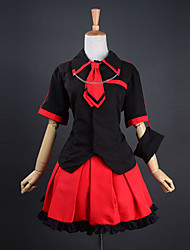 Short Sleeve Shirt Red Satin Skirt Punk Lolita Outfit