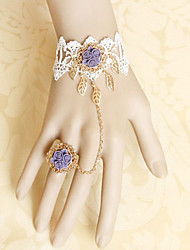 Rose Bride White Lace Violet Flower Sweet Lolita Accessories Set