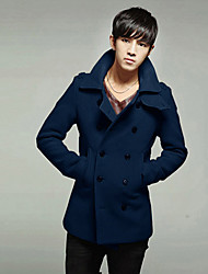 Men's Coats & Jackets , Polyester Casual/Work PPZ