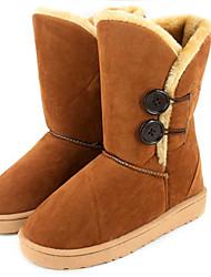 Women's Mid-calf Insulated Winter Button Boots