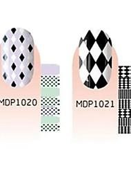 28pcs Scrawl Cartoon Nail Art Stickers environnement enceintes No.3 (2 Patterns, 2x12PCS)