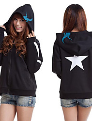 Inspirado por Vocaloid Black Rock Shooter Vídeo Jogo Fantasias de Cosplay Hoodies cosplay Estampado Preto Manga Comprida Casaco