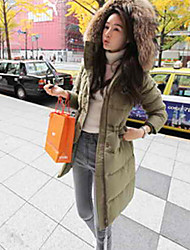 Women's Coats & Jackets , Cotton/Polyester Casual/Work Color Party